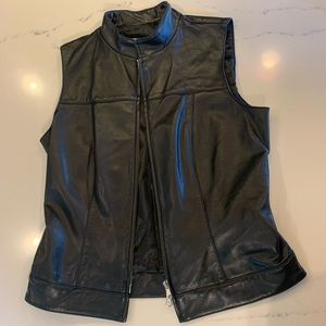 Hugo Buscati Leather Biker Vest